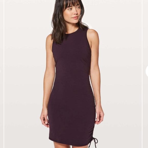 lululemon athletica Dresses & Skirts - NWT Lululemon Black Cherry Cinch It Dress- Size 10